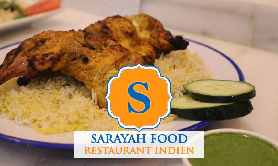 Sarayah food restaurant indien